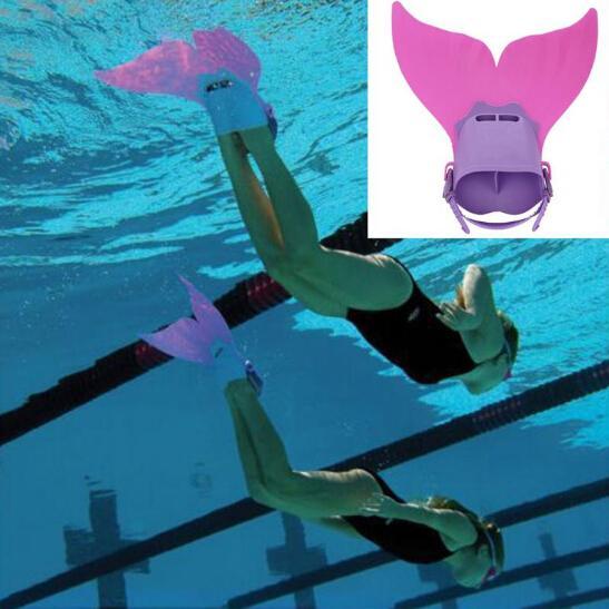 Hot Sale Kids Children Swimming Fins Training Flipper Mermaid Swim Fin Swimming Foot Flipper Diving Feet Tail Monofin