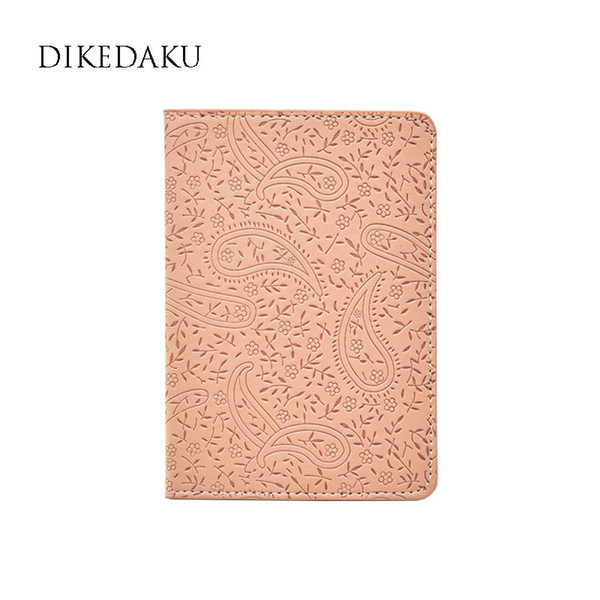 DIKEDAKU Lavender on The Passport Cover for Women Fashion Floral Travel Passport Holder Ladies Cute Casual Leather Case