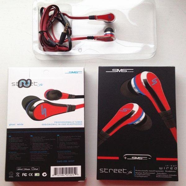 Mini Street Von 50 Cent Nudel In-Ear-Ohrhörer Freisprech Ohrhörer mit Mikrofon und Stummtaste Schwarz Rot Blau für Handys Kleinkasten
