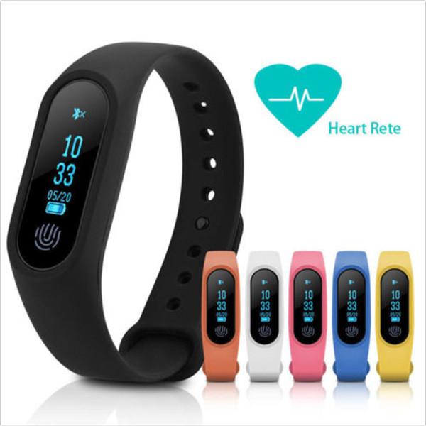 Smart bracciale M2 Smart smartwatch per cardiofrequenzimetro bluetooth Smartband Health Fitness Smart Band per Android iOS con pacchetto