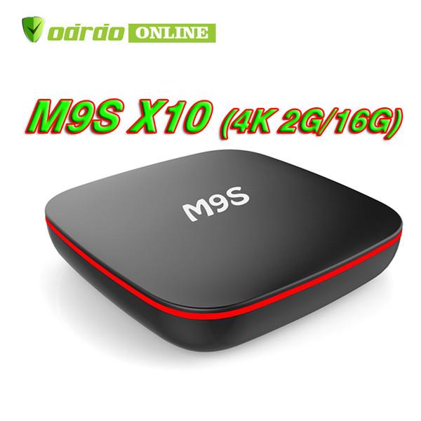 Fabrika Satış En Iyi M9S X10 Akıllı Set Top Box Android 7.1 TV Kutusu IPTV RK3229 Dört Çekirdekli 1 GB + 8 GB daha iyi TX3 X96 MINI S905W S912 OEM