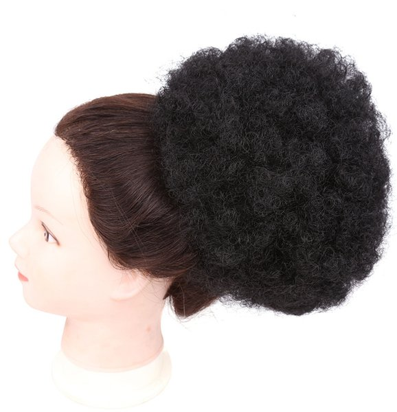 Fahion & Hot Big Donut Chignon Curly Synthetic Hair Bun Extensions Updo Clip In Hair Hairpieces 8inch 90g