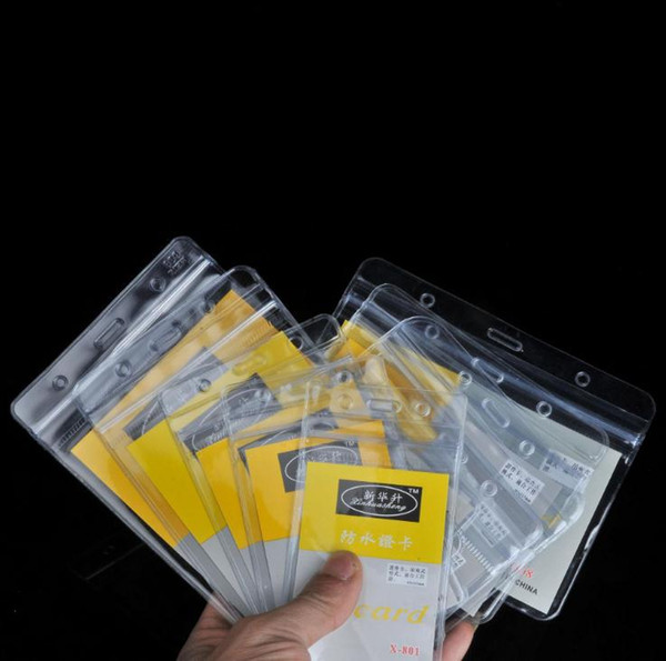 top popular PVC lucency waterproof soft Working Permit Bus Card soft transparency employee's card set Badges Holder print hard paper SN1502 2020