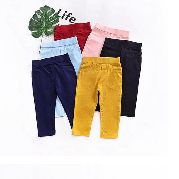 Baby Clothing Ins PP Pants Toddler Cotton Leggings Kids Solid Color Tights Trousers Boys Pants Girls Trousers Kids Fashion Clothes YL131