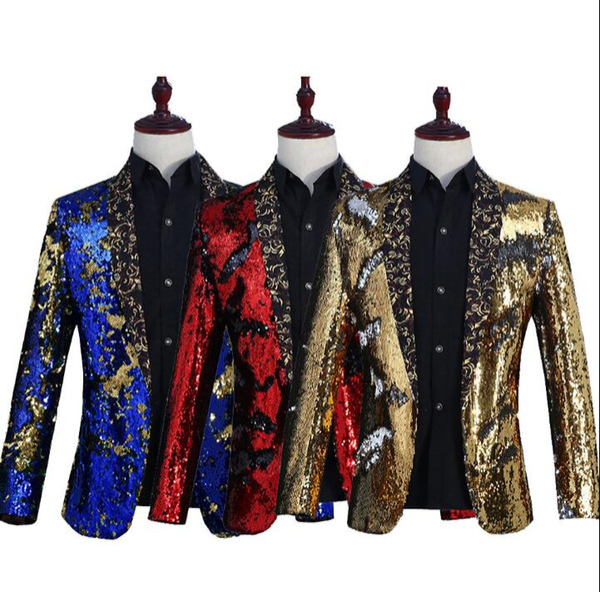choir blazer men formal dress latest coat pant designs marriage suit men singer stage masculino trouser wedding suits for men's