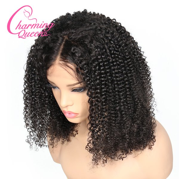 150% Density Lace Front Human Hair Wigs For Black Women Kinky Curly Pre Plucked Glueless Brazilian Remy Hair Wigs With Baby Hair