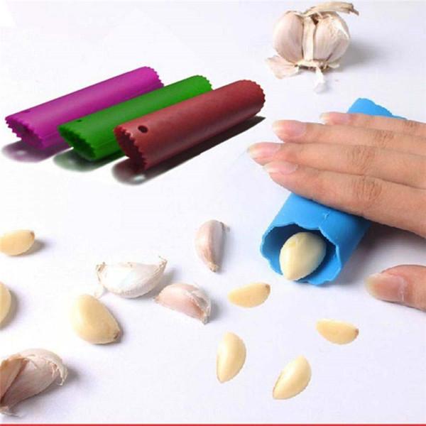 Garlic Peeler Practical Utility Kitchen Gadget Garlic Stripper Tube Peeling Garlic Peeling Random Color