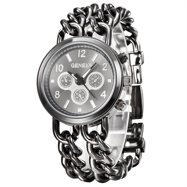 Großhandel Frauen Genf Gold Uhr Mode Cowboy Kette Quarz Kleidung Uhren Damen Kleid Uhr Retro Uhren Punk Luminous Armbanduhr Von Vipswei, $8.63 Auf