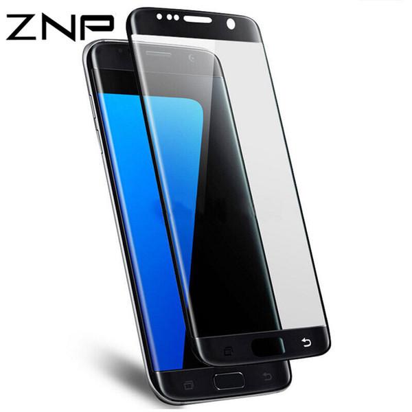 90f79b85d3b ZNP 3D curvado completo de cristal templado para Samsung Galaxy S7 S6 Edge  S7 protector de