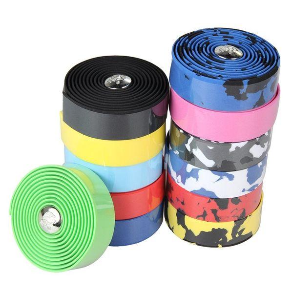 2018 2016 100% Brand New Cycling Handle Belt Bike Bicycle Cork Handlebar Tape Wrap With 2 Bar Plug Handle Bar Tape Black