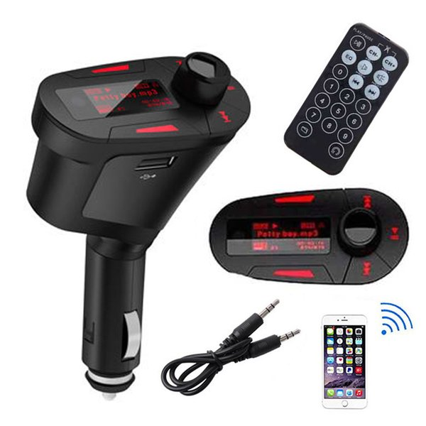 Car Kit MP3 Player Audio Wireless FM Transmitter Remote USB SD Card Aux In Dual Output Dropship High Quality New Arrivals #2