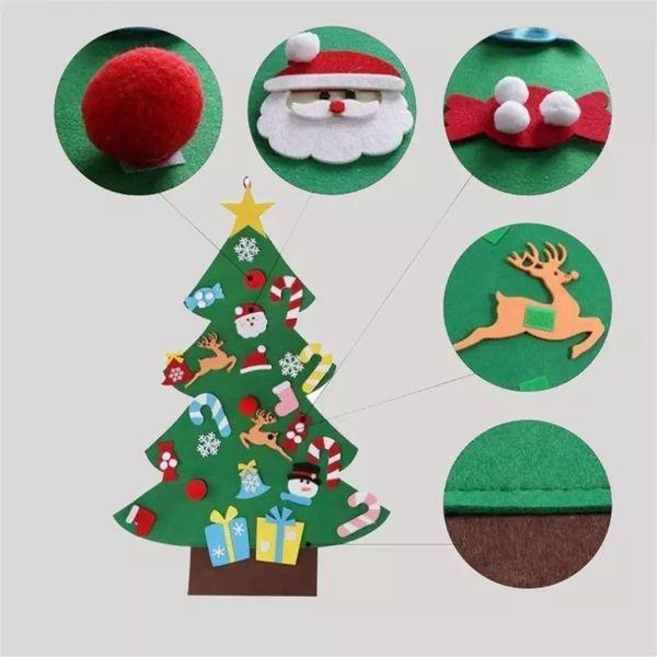 Happy Christmas Tree Handmade Diy Sock Santa Claus Candy Felt Gift Fun Festival Decorations Classic Home Decor Hot Sale