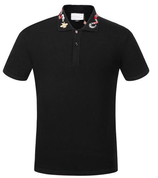 las mujeres ocasionales de los diseñadores 18ss etiqueta de serpiente de los hombres de la ropa de impresión carta tela de polo g de cuello camiseta del verano camiseta camiseta tops 998