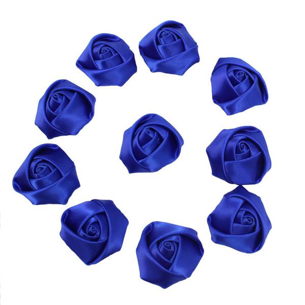Rollo de cinta 10 piezas 3.5 cm Cinta de raso Seda Flor de rosa Flor de la boda ramo de novia ramo ramo Accesorios para niños Cabello Accesorios de Navidad