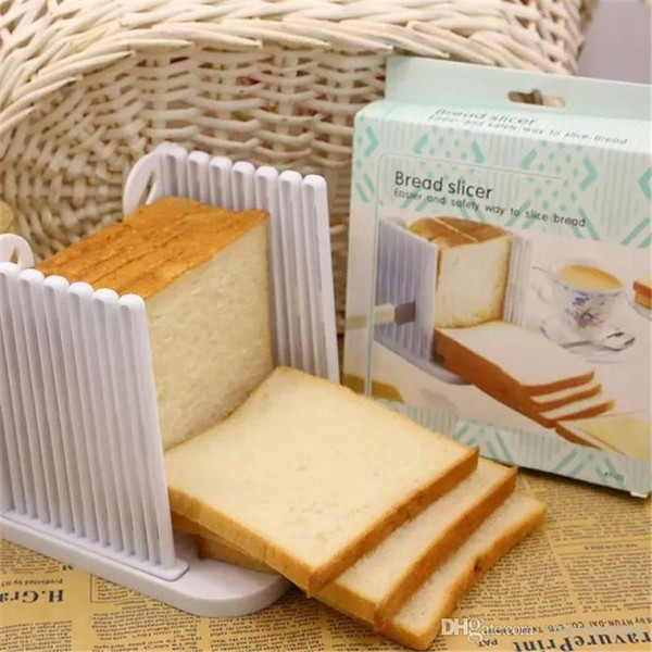 Plastic 6 Layers Adjustable Cake Bread Slicer Cutter Tool Loaf Toast Cutting Guide Kitchen Baking Accessories Pastry Tool