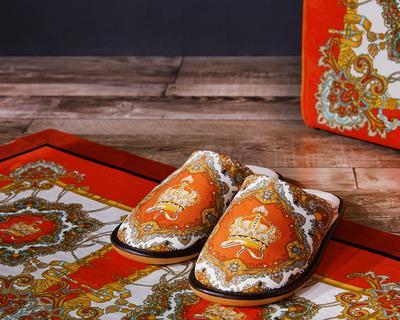Роскошные международные новые моды набивным рисунком короткие плюшевые материал дома крытый тапочки вывеска H удобная домашняя обувь Рождественский подарок
