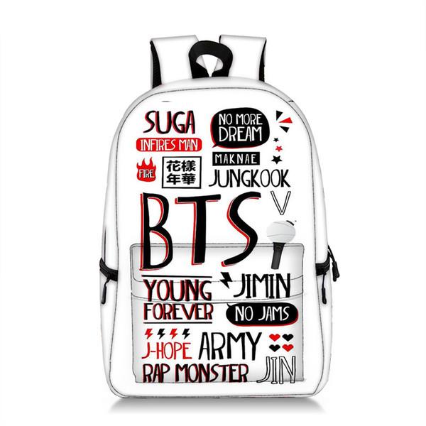 Sac a dos college fille bolso de niña adolescente para la escuela bagpack mochila de estilo coreano s bts bangtan niños bolso grande mochila