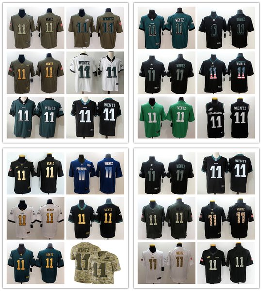 more photos 8540a fd5b2 2019 Mens 11 Carson Wentz Philadelphia Jersey Eagles Football Jersey 100%  Stitched Embroidery Carson Wentz Color Rush Football Stitching Jersey From  ...