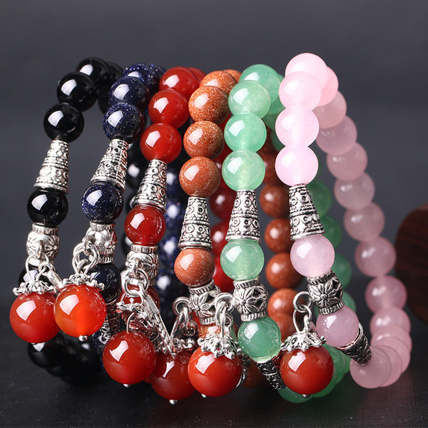 Natural Crystal Eastern Tombs Jade Bracelet Fresh Crystal Agate Jinsha Stone Woman Hand Series Of Korean Ornaments Accessories