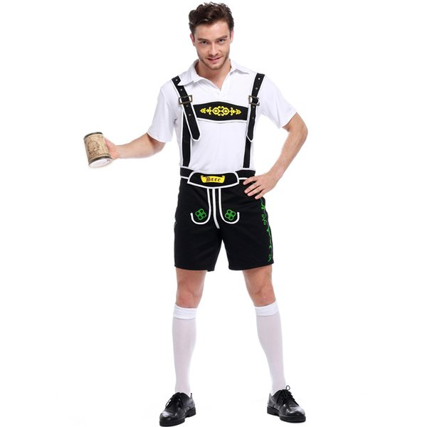 Oktoberfest Mens Costume Germany Bavarian Themed Party Wear Holiday Dress Up Game Beer Outfit For Man Cosplay Halloween Costumes