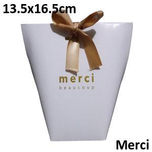 White Merci 13.5*16.5cm