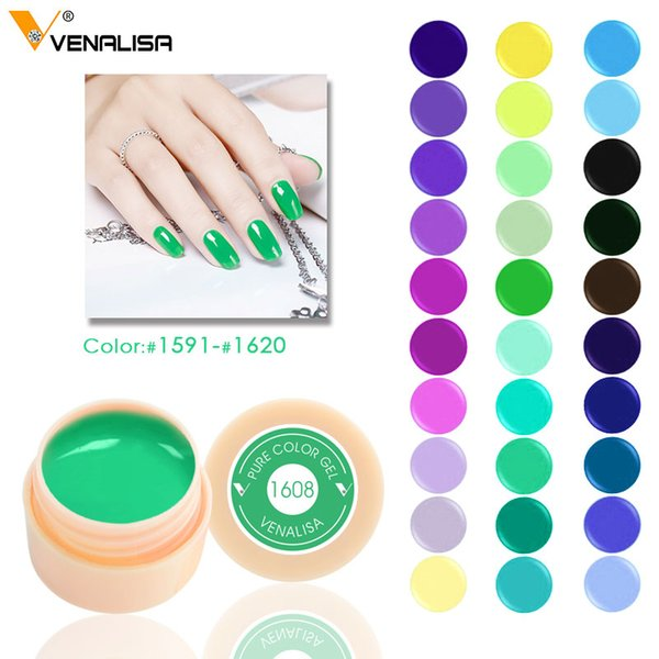5ml white jar Pure Color nail Art gel Paint Gel Tips DIY Decoration CANNI Factory Price Painting LED&UV paint