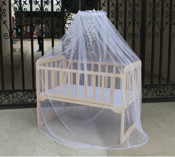 Wholesale -Fashion Mosunx Business Hot Selling Baby Bed Mosquito Mesh Dome Curtain Net For Toddler Crib Cot Canopy