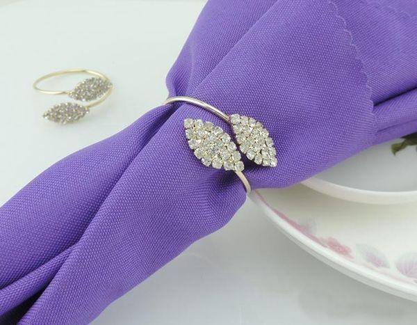 10pcs/lot crystal Diamonds Napkin Ring/Wrap Serviette Holder Wedding Banquet Party Dinner Table Decoration Home Decoration