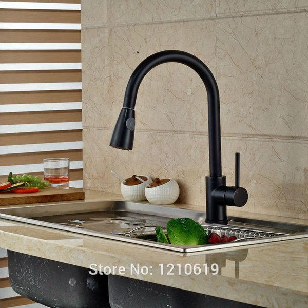 2019 Newly Oil Rubbed Bronze Kitchen Sink Faucet Mixer Tap Pull Down Basin Faucet Single Handle Single Hole From Sheiler Price Dhgate Com