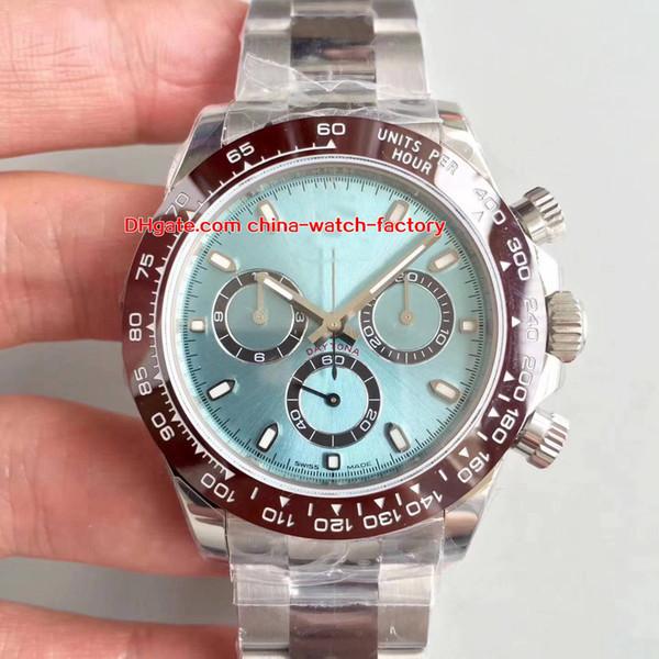 5 colori N Factory 904L Acciaio svizzero CAL.4130 Cronografo lavoro 40mm Cosmograph 116506 116520 116500 Orologio automatico in ceramica Orologi da uomo