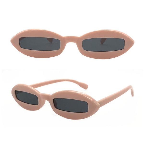 Men Women Oval Shaped Sunglasses Eyewear PC Lens Frame Unisex Outdoor Eyeglasses for Driving Shopping Vacation