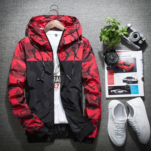 Jacket Men Women Windbreaker Mens Jacket Fashion Hooded Jackets Outdoor Wear Sport Casual Slim Polyester Running Hiking Clothing Size M-5XL