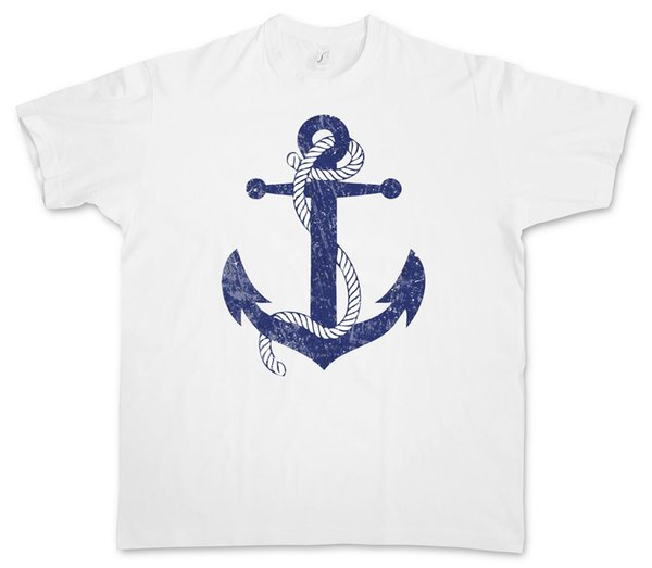 Tattoo T-Shirt  Sailor Jerry Old School White Men/'s Shirt With Anchor Design