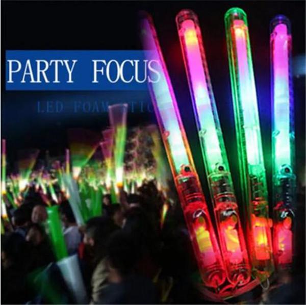 Múltiples coloridos 7 modos LED parpadeante lámpara de luz nocturna Palillos luminosos con correa Festival de fiesta Camp B11