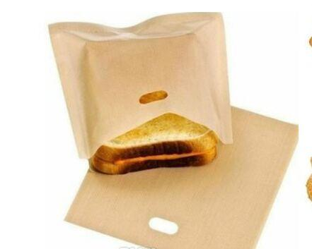Reusable Toaster Bags Grilling Bag Non FUSS-NO MESS BBC Microwave Oven Bag Not Sticky Toast Toastabags Make A Perfect Toasted