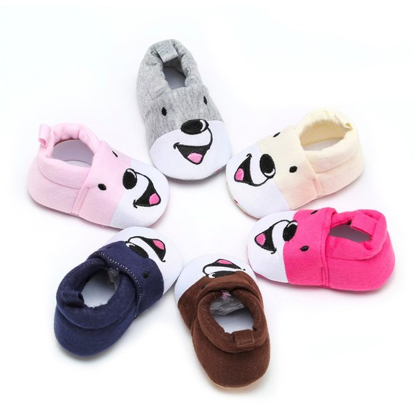 Cute Newborn Baby Shoes Infant First Walkers Soft Baby Crib Shoes for 0-18M