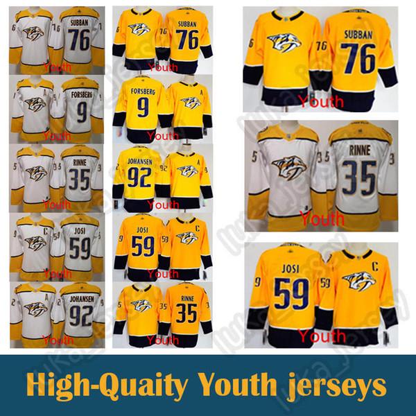 new product d1456 bb304 2018 Kid Jersey Nashville Predators 59 Roman Josi 35 Pekka Rinne 76 P.K.  Subban Youth Shirt Hockey Jerseys From Luka_jersey, $31.85   DHgate.Com