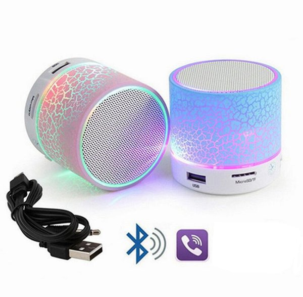 LED Taşınabilir Mini Bluetooth Hoparlörler Taşınabilir Süper Bas Mükemmel Araba Hoparlör Kablosuz Taşınabilir Mini Stereo EEA137 50 adet