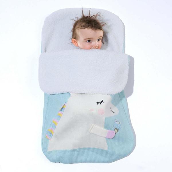 Infant Baby Polarfleece Swaddle Wrap Swaddling Decke Winter warme Schlafsack