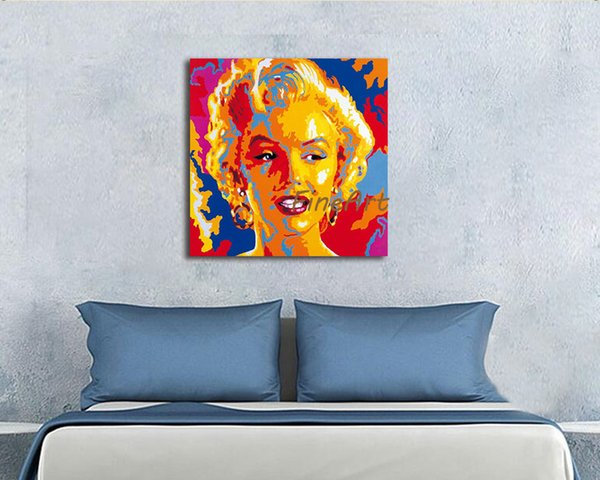 2019 Large Canvas Wall Art Paintings Marilyn Monroe Painting Pop Art Wall Decor Handmade Beautiful Artwork Paintings For Sale Art Deco Oil Painti From