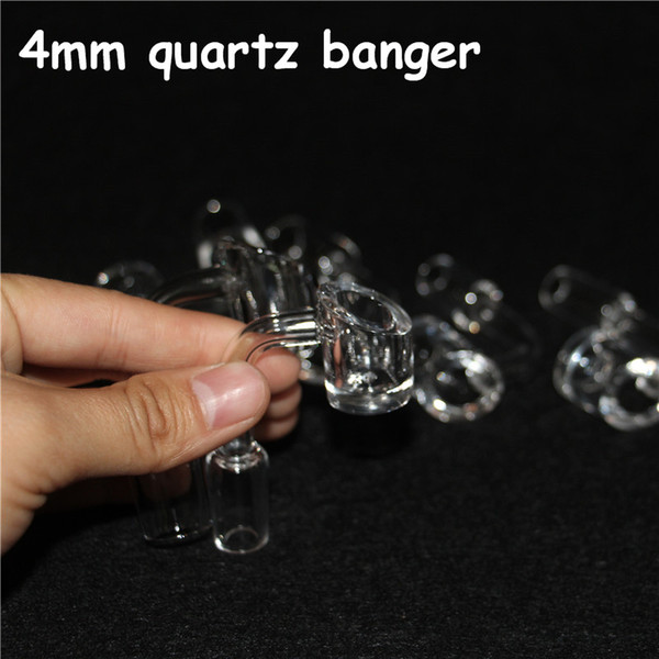 best selling 4mm thick club banger domeless quartz nail 14mm male female. 100% real quartz free shipping!