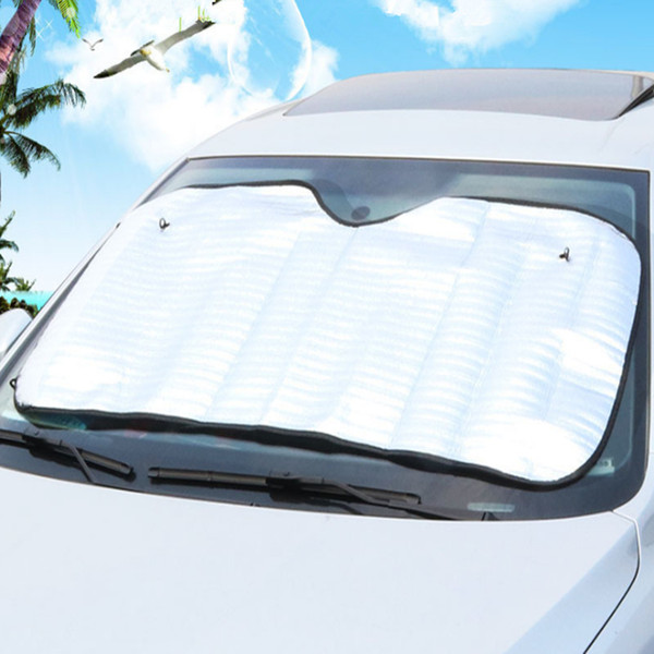 130CM*60CM Car Sun Shade Single Side Silver Foam Cotton Sunshade Anti-exposure Anti Aeration Cool Down Heat Insulation 20PCS