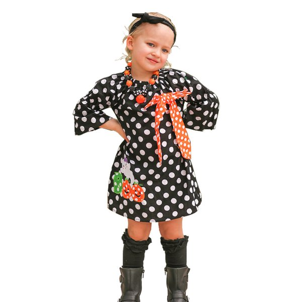 Halloween costume European and American children 2018 autumn new girls long-sleeved dress princess dress for 1-5 years old