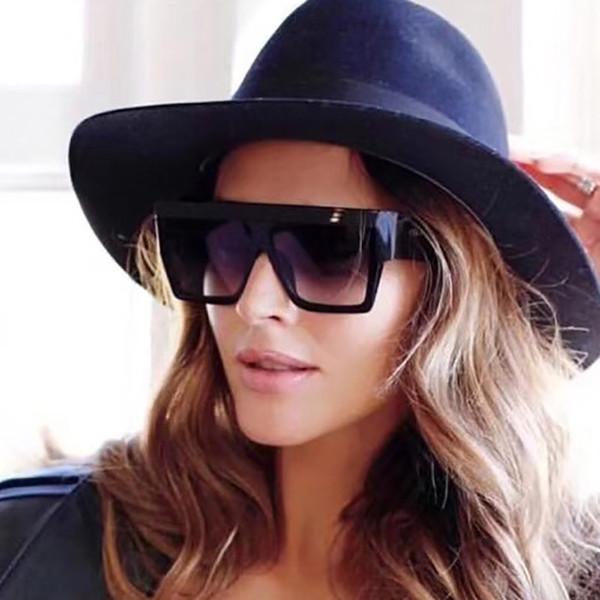 Женщины мужчины старинные ретро бренд дизайнер очки унисекс большая рамка солнцезащитные очки плоские линзы солнцезащитные очки женский oculos A40