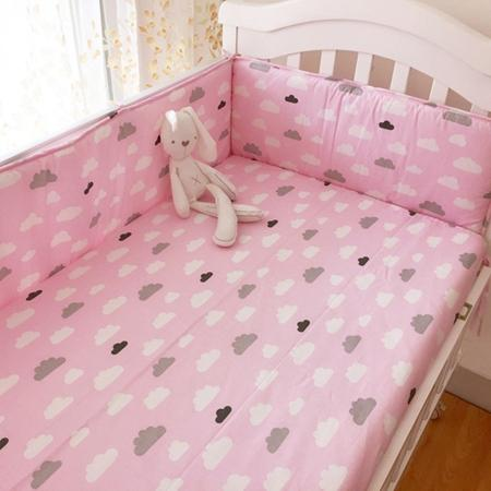 (Fitted Sheet 1pcs )Baby Bed Mattress Cover 1pcs 100 %Cotton Baby Bed Sheet For Baby Girl Boys 130x70cm 120x60cm Crib