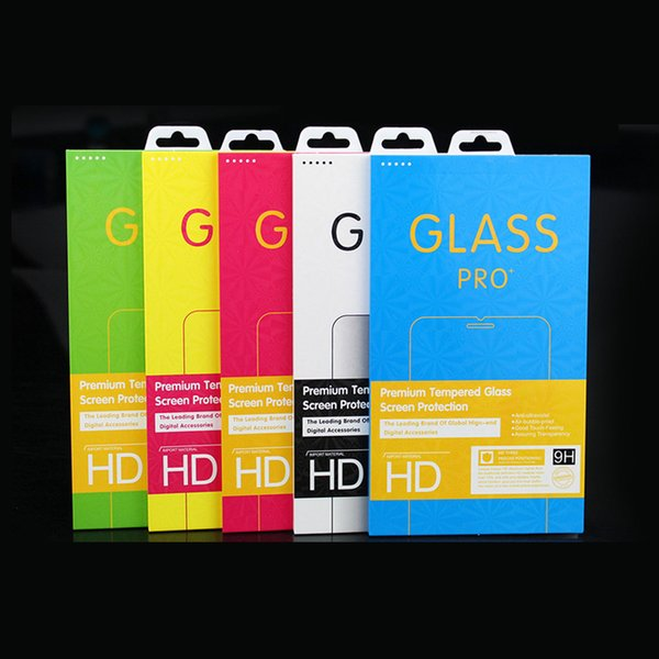 New color packing gift retail box for cell phone screen protectors tempered glass film iphone x iphone 8 plus free shipping
