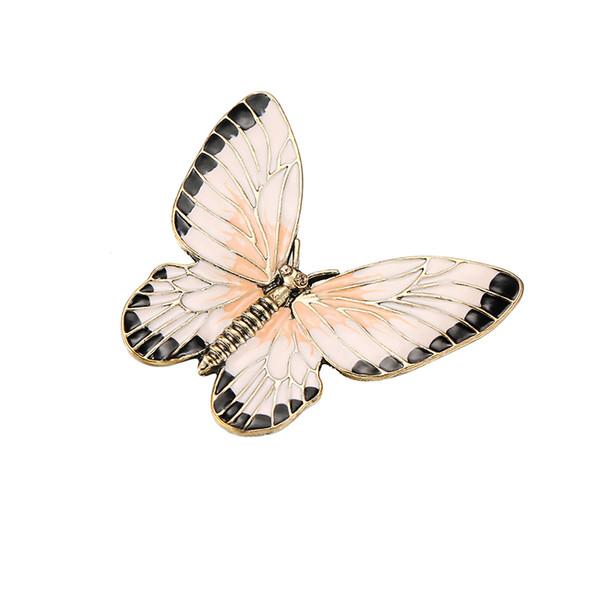 LNRRABC Schmetterling Graceful Mädchen Broschen Pullover Frauen Goldene Einzigartige Anzug Schal Brosche Pins Großhandel