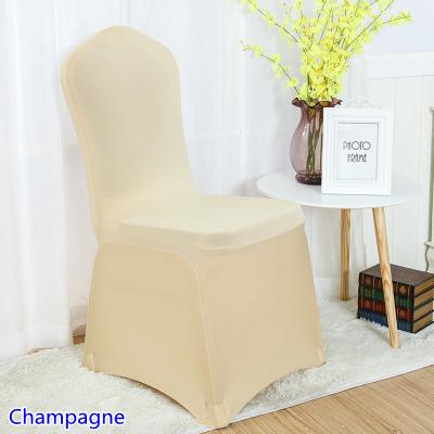 spandex chair cover champagne colour flat front lycra stretch banquet chair cover for wedding decoration wholesale on sale