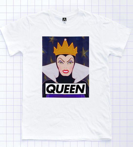 Queen T-shirt Snow Dwarfs Drag LGBT Pride Tee Gay Race Sassy Princess White Top Cartoon t shirt men Unisex