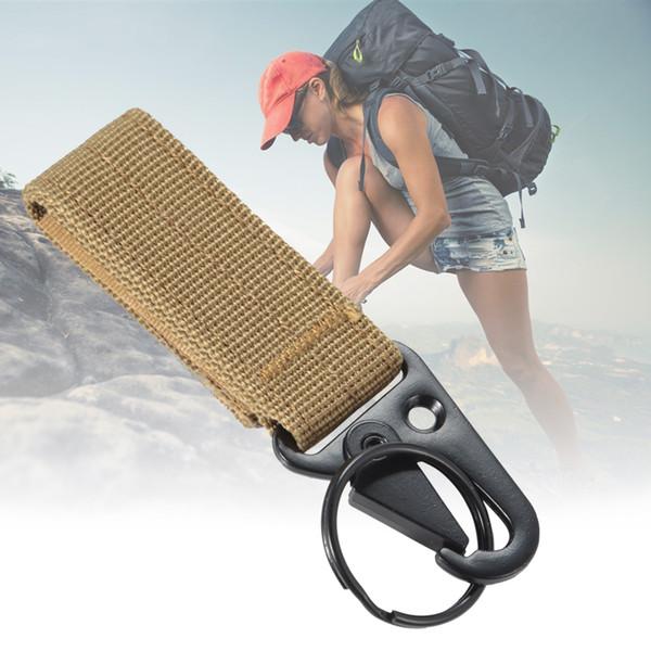 Outdoor Tactical Nylon Webbing Key chain Belt Buckle Keychain Multifunctional Mountaineering Olecranon Hook keyring